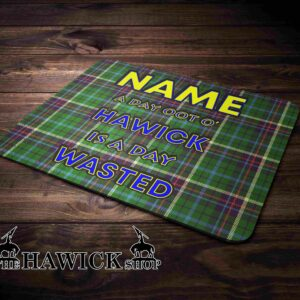 Personalised Tartan Hawick Day Oot Mouse Mat